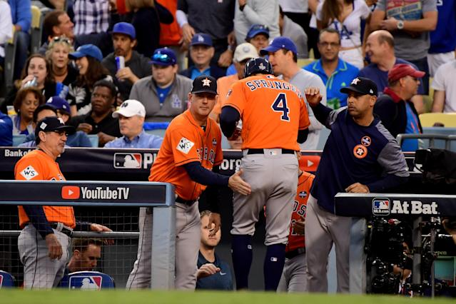The amount of evidence around the Astros' alleged trash can system is becoming significant. (Photo by Harry How/Getty Images)