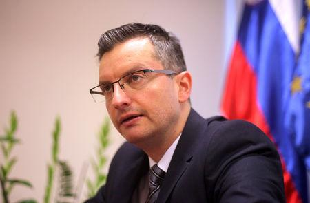 FILE PHOTO: Marjan Sarec, Slovenia's PM speaks during an interview in Ljubljana