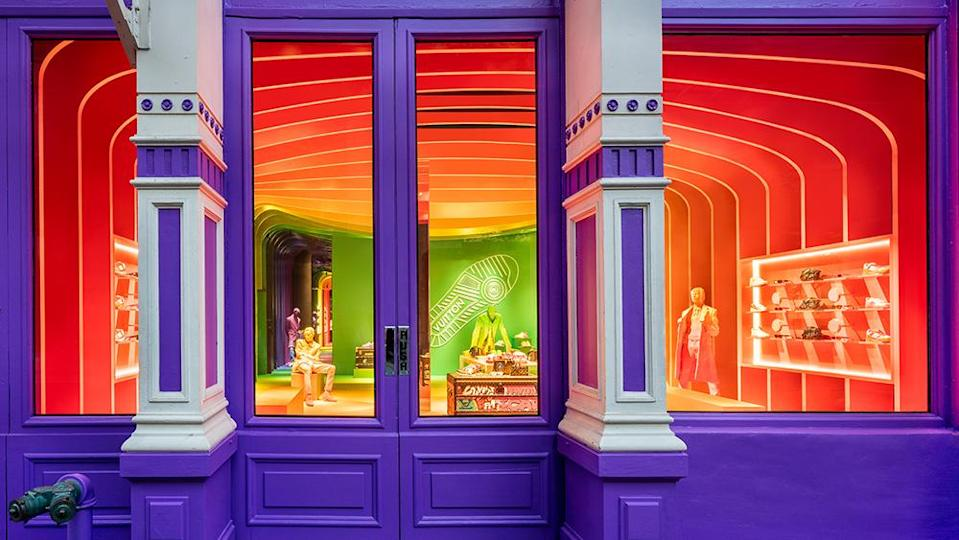 The entrance of the eye-catching SoHo residency. - Credit: Brad Dickson/Louis Vuitton