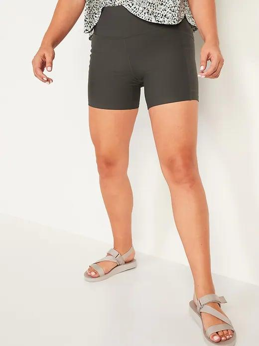 <p>These <span>Old Navy High-Waisted PowerSoft Side-Pocket Biker Shorts -- 6-inch inseam</span> ($10-$20, originally $27) may have a shorter length, but they still fit your phone.</p>