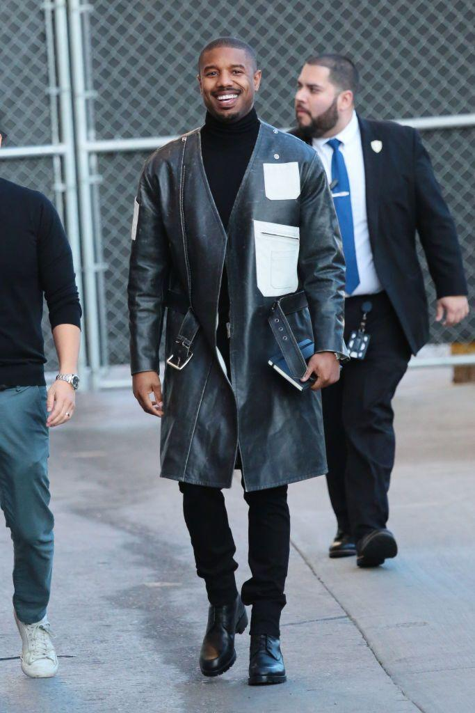 <p>Yes, this is a high-fashion MBJ. But his signature is clear: the foundation of the outfit is simple and the edge is in the outerwear.</p>
