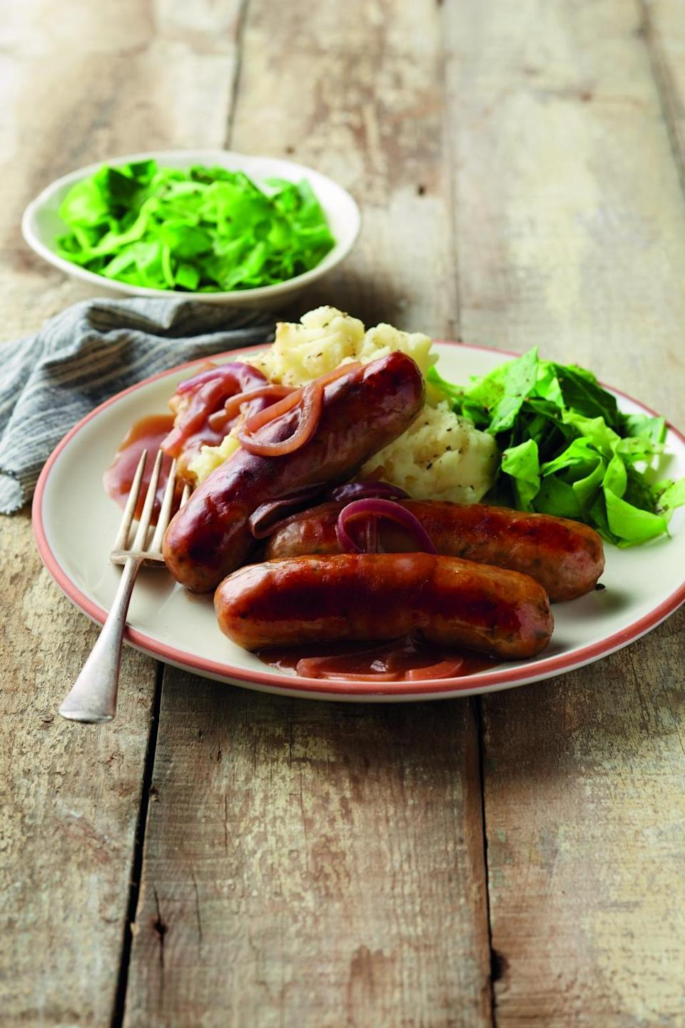 Sausages with Guinness Stout and Leek at £1.99 from Thursday: Aldi