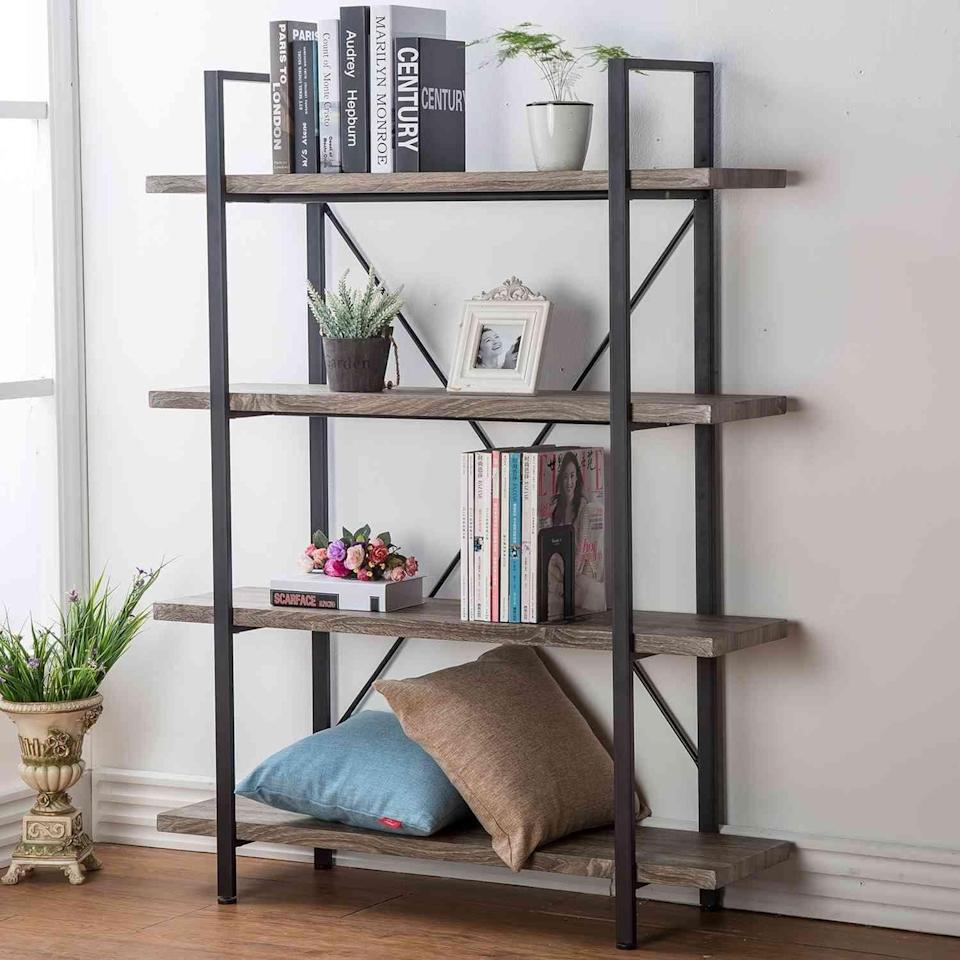 <p>The <span>HSH Furniture 4-Shelf Vintage Industrial Bookshelf</span> ($146) looks like a piece of furniture straight from a catalog (but is way more affordable).</p>