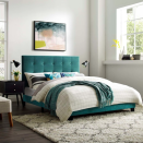 """<p><strong>houzz</strong></p><p>houzz.com</p><p><strong>$203.00</strong></p><p><a href=""""https://go.redirectingat.com?id=74968X1596630&url=https%3A%2F%2Fwww.houzz.com%2Fproduct%2F143308334&sref=https%3A%2F%2Fwww.cosmopolitan.com%2Flifestyle%2Fg34968161%2Fbest-cheap-bed-frames%2F"""" rel=""""nofollow noopener"""" target=""""_blank"""" data-ylk=""""slk:Shop Now"""" class=""""link rapid-noclick-resp"""">Shop Now</a></p><p>Okay so <em>yes</em>, this is a tad over $200. But let's just acknowledge the vibrancy of the teal velvet headboard here—totally worth the extra bucks.</p>"""