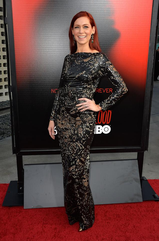 HOLLYWOOD, CA - JUNE 11: Actress Carrie Preston attends the premiere of HBO's 'True Blood' Season 6 at ArcLight Cinemas Cinerama Dome on June 11, 2013 in Hollywood, California. (Photo by Frazer Harrison/Getty Images)