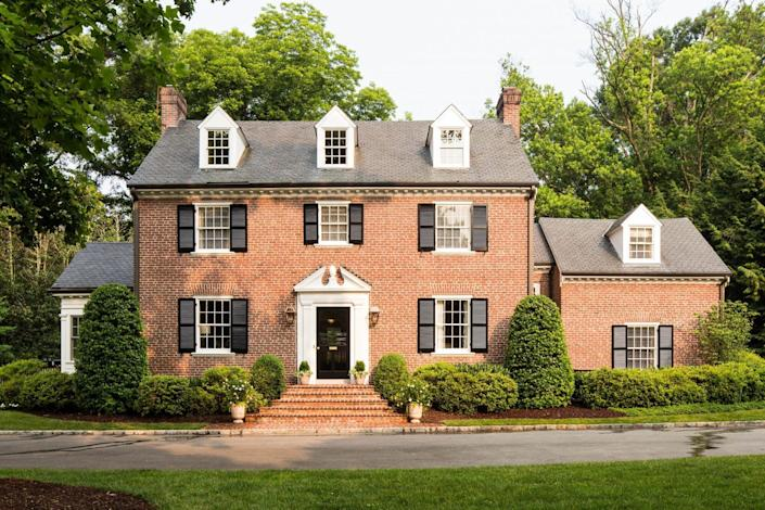 Exterior of red brick house in Richmond, VA