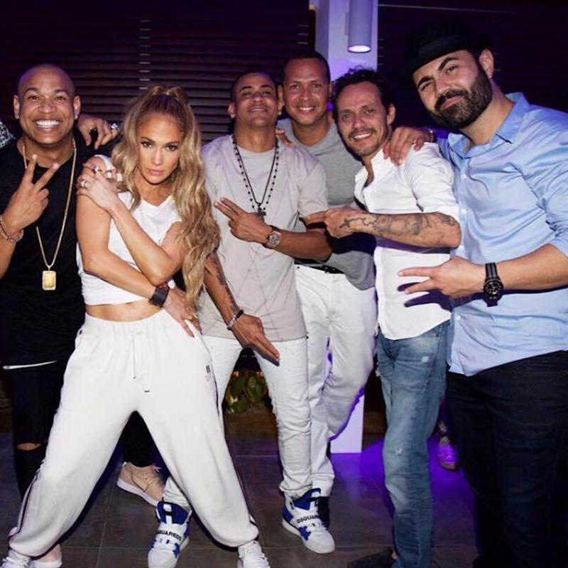 You Have to See Jennifer Lopez Dancing With Alex Rodriguez AND Marc Anthony in Dominican Republic