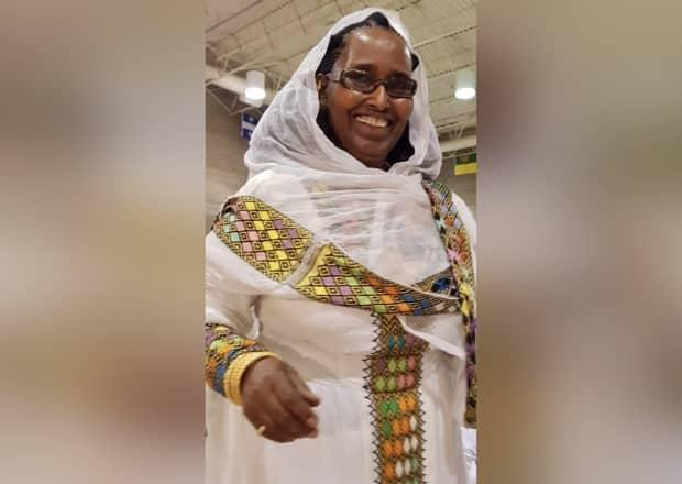 Ghidei Tesfai died from complications related to COVID-19 on April 7, 2021 at Regina General Hospital. The 70-year-old grandmother is being remembered as one of the matriarchs of the Eritrean community in Regina. (Submitted by Asmeret Kifle - image credit)