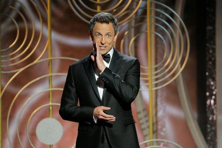 Seth Meyers hosts the 75th Golden Globe Awards in Beverly Hills California