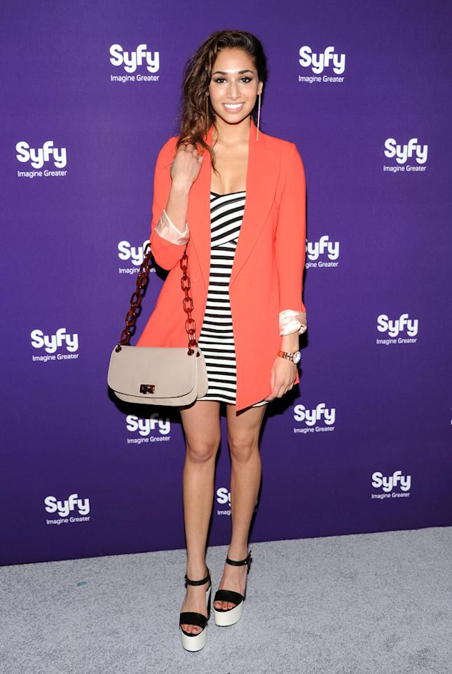 "Meaghan Rath (""<a href=""http://tv.yahoo.com/being-human-syfy/show/45462/"">Being Human</a>"") attends Syfy's 2012 Upfront event at the American Museum of Natural History on April 24, 2012 in New York City."