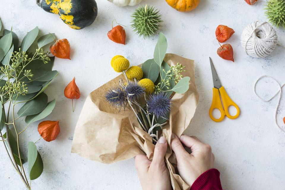 """<p>If you're into a less spooky Halloween vibe, why not host a floral arranging party? For the best deal, visit your local flower market if you have one (Trader Joe's or Whole Foods usually have good blooms, too!) grab some easy snacks, and you're pretty much good to go. </p><p><a class=""""link rapid-noclick-resp"""" href=""""https://www.amazon.com/Floral-Supply-Online-Decorating-Arrangements/dp/B07HJF16HP/ref=sr_1_1?tag=syn-yahoo-20&ascsubtag=%5Bartid%7C10072.g.28787574%5Bsrc%7Cyahoo-us"""" rel=""""nofollow noopener"""" target=""""_blank"""" data-ylk=""""slk:SHOP BULK VASES"""">SHOP BULK VASES</a></p>"""