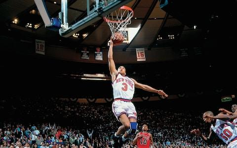 "<span>John Starks at his ""Mecca"" - Madison Square Garden</span> <span>Credit: NBAE/Getty Images </span>"