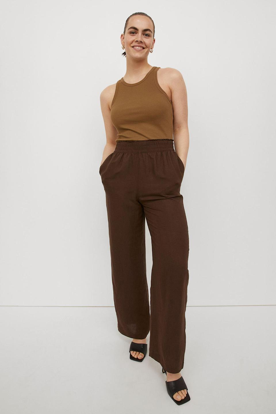 <p>On days when you can't even deal with jeans, these <span>Wide-cut Pants</span> ($21, originally $25) will keep you at ease. They are just loose enough to make you comfortable, yet the silhouette is still polished and put-together.</p>