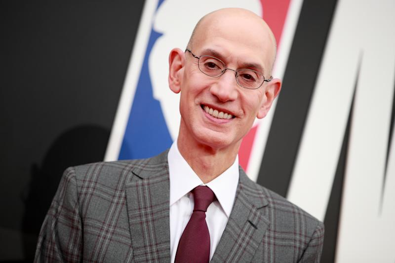 """Adam Silver is moving away from the use of the term """"owner"""" in the NBA. (Getty)"""