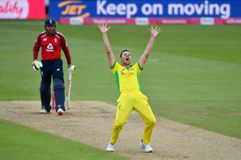 Appealing prospect - Australia's Josh Hazlewood was glad to be back in T20 action against England