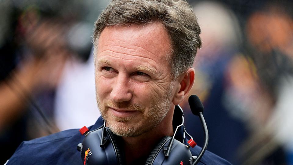 Red Bull Racing team boss Christian Horner was furious with Mercedes driver Lewis Hamilton after his lap one incident with Max Verstappen. (Photo by ANDREJ ISAKOVIC/AFP via Getty Images)