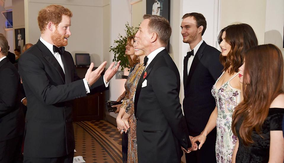 <p>Prince Harry also got to have an animated chat with Daniel Craig at the premiere. Do you think they were talking about whether they like their martinis shaken and not stirred?</p>