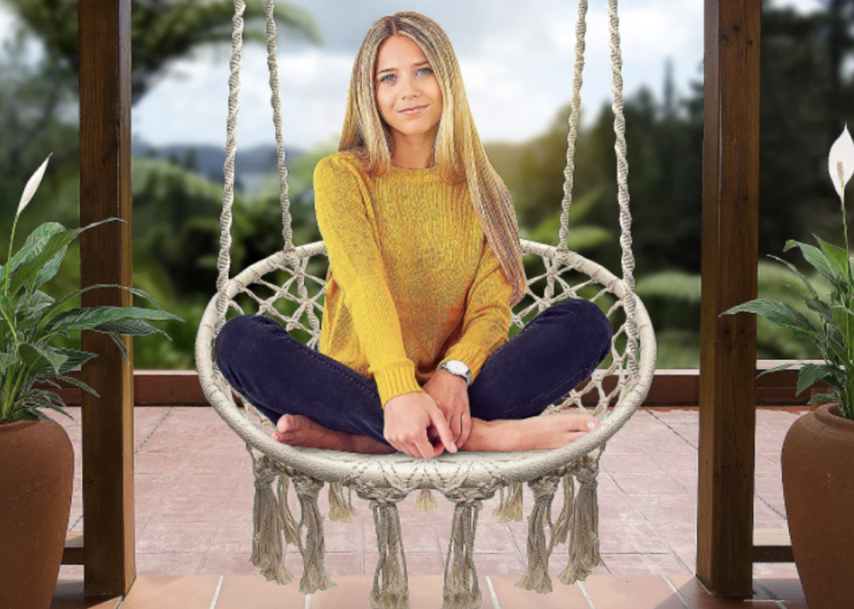 Our latest outdoor obsession is the Sorbus Hanging Rope Chair—grab it for 20 percent off. (Photo: QVC)