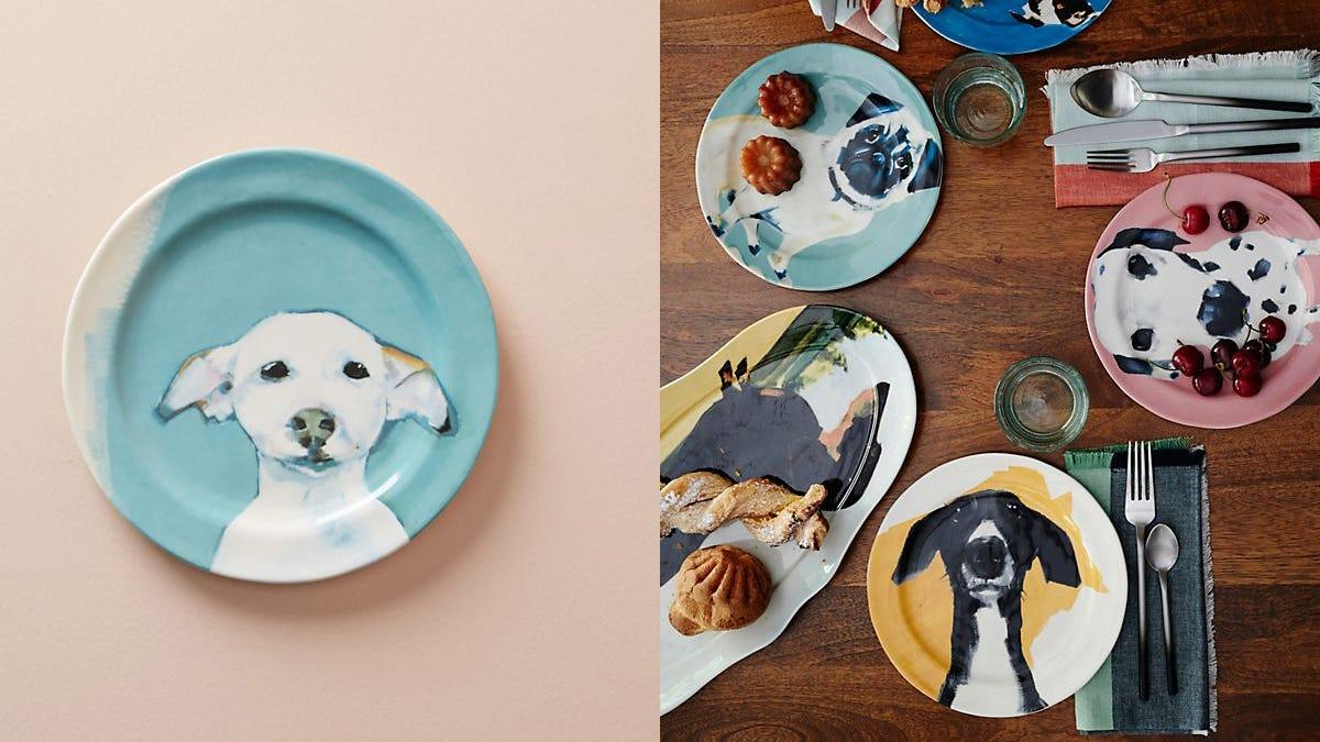 These plates are cute enough to bring out the inner dog lover in everyone.