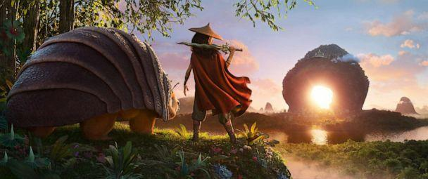 PHOTO: As an evil force threatens the kingdom of Kumandra, it is up to warrior Raya and her trusty steed Tuk Tuk, to leave their Heart Lands home and track down the last dragon to help stop the villainous Druun.  (@2020 Disney)