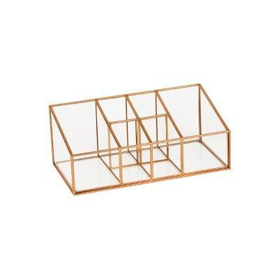 <p>The gorgeous gold finish on this <span>Metal Vanity Organizer</span> ($20) makes it a piece that will look good anywhere.</p>