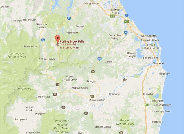 The national park is was supposed to be closed. Source: Google Maps