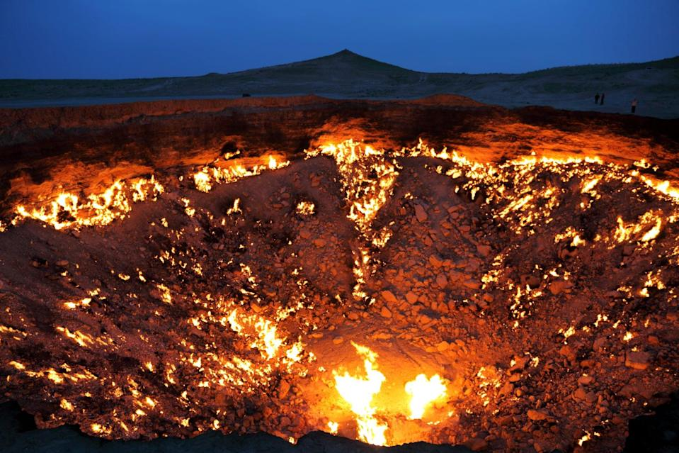 <p>Scientists had the bright idea of burning up this gas field to prevent noxious gas from escaping. They figured it'd burn out in a few days, but it's been more than 40 years (and counting) since it was first lit. </p>