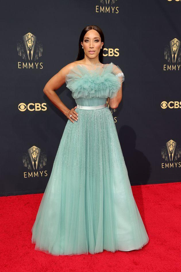 Robin Thede attends the 73rd Primetime Emmy Awards at L.A. Live on Sunday in Los Angeles. (Photo: Rich Fury/Getty Images)