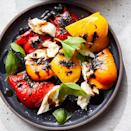 <p>Sweet peppers like red, orange and yellow bells stand in for tomatoes in this caprese-style salad and pair deliciously with the fresh mozzarella and acidic balsamic drizzle. Try green bell peppers if you prefer less sweetness. This easy, healthy recipe takes just 20 minutes to make.</p>
