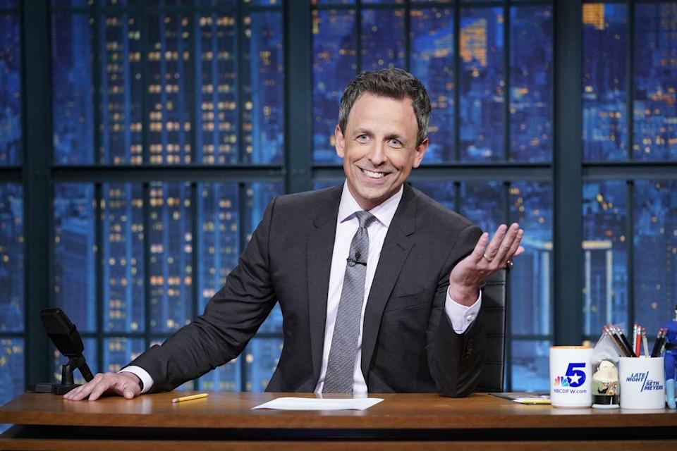 "<p>Seth Meyers got his start delivering sandwiches for New England sub shop chain D'Angelo. He told <em><a href=""https://www.youtube.com/watch?v=A4JjVpD27yc&list=PL0hKMB1-xkc9hWRpmI4BxOq_AYWrWenNP&index=8"" rel=""nofollow noopener"" target=""_blank"" data-ylk=""slk:GQ"" class=""link rapid-noclick-resp"">GQ</a></em> that he spent his time on the job and in the car listening to books on tape, but a downside of the job was that he smelled like onions all time. </p>"