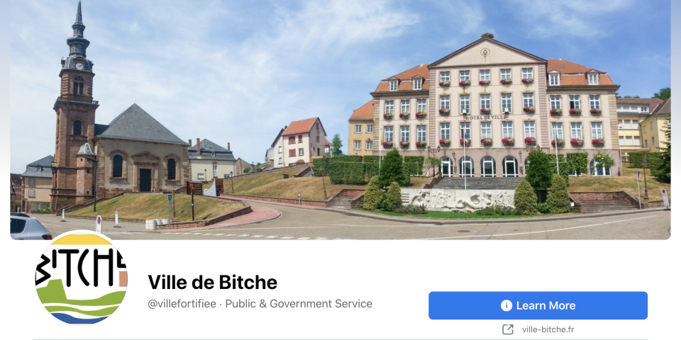 The Ville de Bitche page was restored after almost a month. Source: Facebook