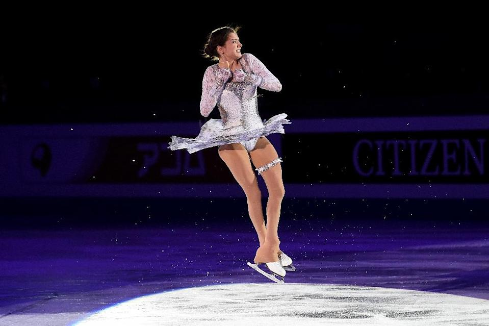 Russia's Evgenia Medvedeva performs during an exhibiton gala at the ISU Grand Prix of Figure Skating in Barcelona on December 13, 2015 (AFP Photo/Josep Lago)
