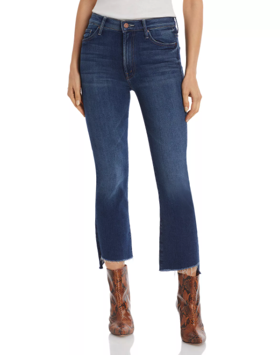 """<h2>MOTHER The Insider Crop Step Fray Flared Jeans</h2><br><em><strong>The Worth-The-Splurge Style<br></strong></em><br>Soft, stretchy but never without shape, these Mother jeans feature a 10"""" rise and a stylish flared silhouette. They may be more expensive than your typical pair of jeans, but according to a number of happy shoppers, this is an investment item you won't regret. <br><br><strong>The Hype: </strong>4.8 out of 5 stars; 17 reviews on Bloomingdales.com<br><br><strong>What They're Saying</strong>: """"Great Fit: Always wanted a pair of Mother Jeans but the price point was high. I finally hit the bullet and decide to try one on and on my!! I wish I could live in these. Will jump on another pair if they ever go on sale."""" — Yash, Bloomingdales.com reviewer<br><em><br>Shop</em> <strong><a href=""""https://www.bloomingdales.com/shop/product/mother-the-insider-crop-step-fray-flared-jeans?ID=3891922&CategoryID=2910"""" rel=""""nofollow noopener"""" target=""""_blank"""" data-ylk=""""slk:Bloomingdales.com"""" class=""""link rapid-noclick-resp""""><em>Bloomingdales.com</em></a></strong><br><br><strong>MOTHER</strong> The Insider Crop Step Fray Flared Jeans, $, available at <a href=""""https://go.skimresources.com/?id=30283X879131&url=https%3A%2F%2Fwww.bloomingdales.com%2Fshop%2Fproduct%2Fmother-the-insider-crop-step-fray-flared-jeans%3FID%3D3891922%26CategoryID%3D2910"""" rel=""""nofollow noopener"""" target=""""_blank"""" data-ylk=""""slk:Bloomingdale's"""" class=""""link rapid-noclick-resp"""">Bloomingdale's</a>"""
