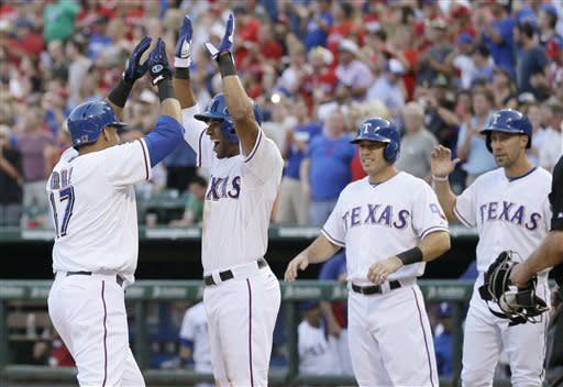 Cruz hits slam as Tepesch, Rangers top Astros 10-5