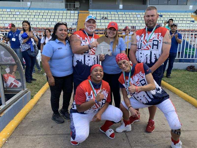 Team USA won gold in the Americas Women's Bowl, then promptly found out their flight out of Honduras had been cancelled. (Courtesy of AFE)