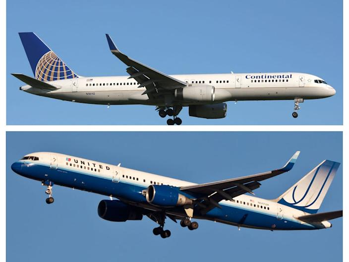 United Airlines and Continental Airlines merger.