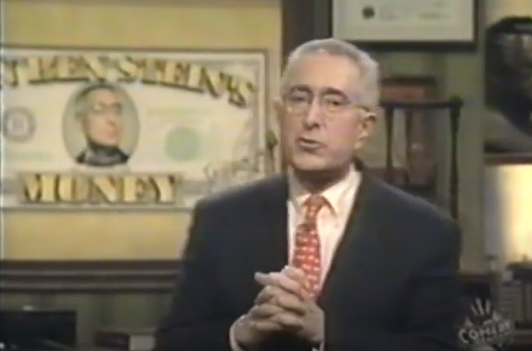 <p>Former presidential speechwriter and actor Ben Stein brought his hosting chops to Comedy Central. The game show had three contestants try to answer trivia questions and win $5,000. A relatively unknown Jimmy Kimmel served as co-host on the show. The show won numerous awards over its six-year run.</p>
