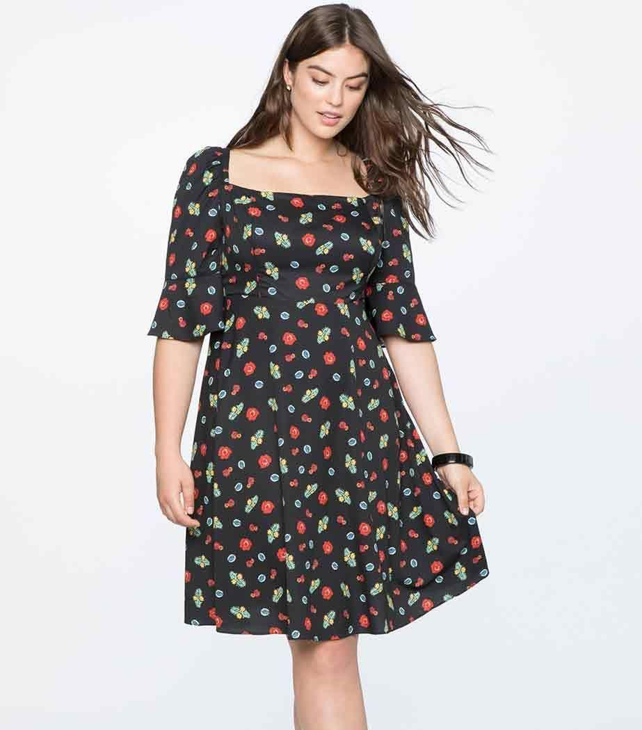 A summer dress everyone will love. Available in sizes 14 to 28.