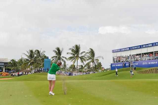 The Blue Bay LPGA was scheduled to take place in China in March. (Zhe Ji/Getty Images)