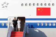 Chinese President Xi Jinping arrives at Macau International Airport in Macau