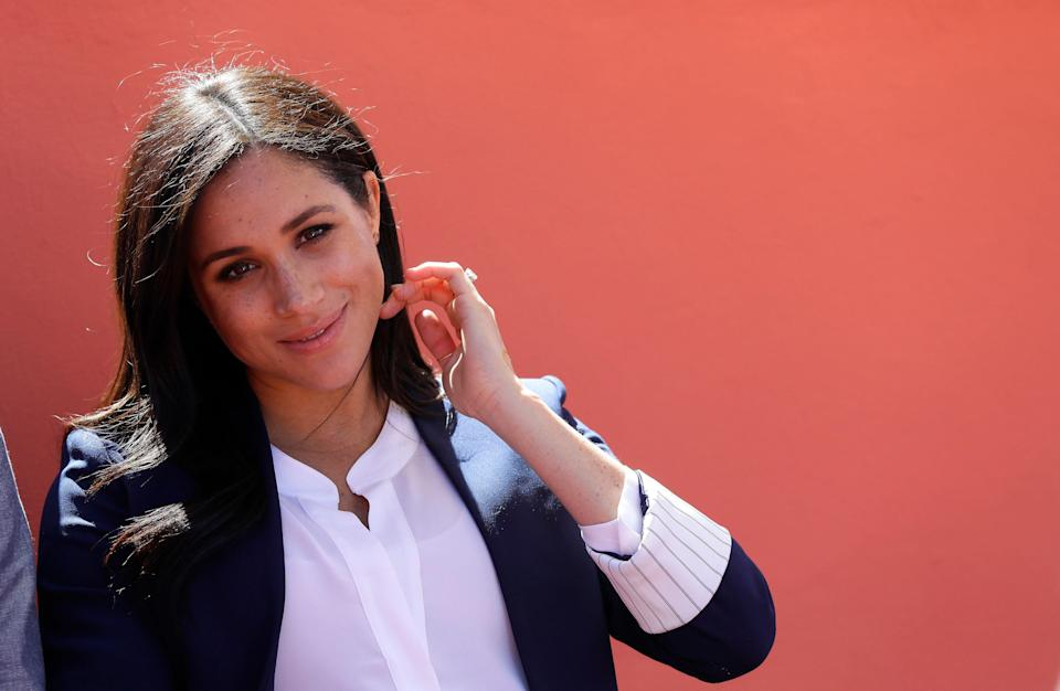 The Duchess of Sussex in Morocco in February [Photo: PA]