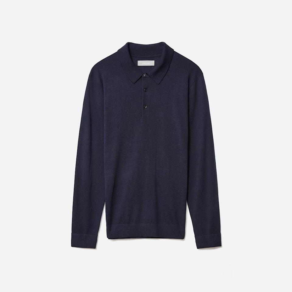 "<p><strong>Everlane</strong></p><p>everlane.com</p><p><strong>$46.00</strong></p><p><a href=""https://go.redirectingat.com?id=74968X1596630&url=https%3A%2F%2Fwww.everlane.com%2Fproducts%2Fmens-easy-merino-polo-navy&sref=https%3A%2F%2Fwww.esquire.com%2Fstyle%2Fmens-fashion%2Fg35086246%2Feverlane-end-of-year-sale-2020%2F"" rel=""nofollow noopener"" target=""_blank"" data-ylk=""slk:Buy"" class=""link rapid-noclick-resp"">Buy</a></p>"