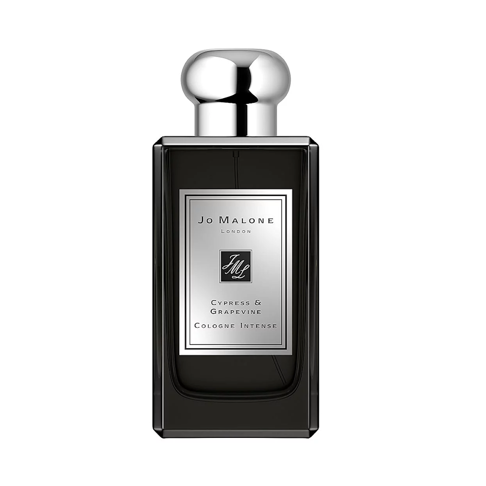 """<p>The grapevine heart note in Jo Malone London Cypress & Grapevine Cologne Intense is such a pleasant surprise; the vine element of it brings out cedarwood and vetiver, while the grape element feels like an amber-spiked version of the fruit. It's surrounded by cypress and moss, letting the wearer feel like they're getting a personal tour of the ancient Hanging Gardens.</p> <p><strong>$135 for 1.7 ounces</strong> (<a href=""""https://shop-links.co/1716229945261597545"""" rel=""""nofollow noopener"""" target=""""_blank"""" data-ylk=""""slk:Shop Now"""" class=""""link rapid-noclick-resp"""">Shop Now</a>)</p>"""