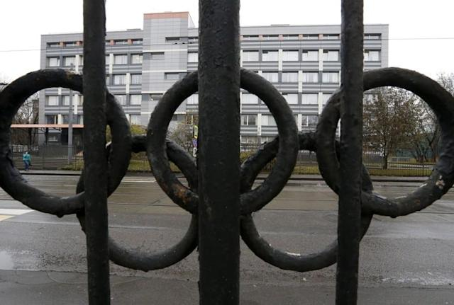 FILE PHOTO: A view shows a building, which houses a laboratory accredited by WADA in Moscow