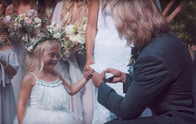 Everleigh got a ring too! (Photo: YouTube)