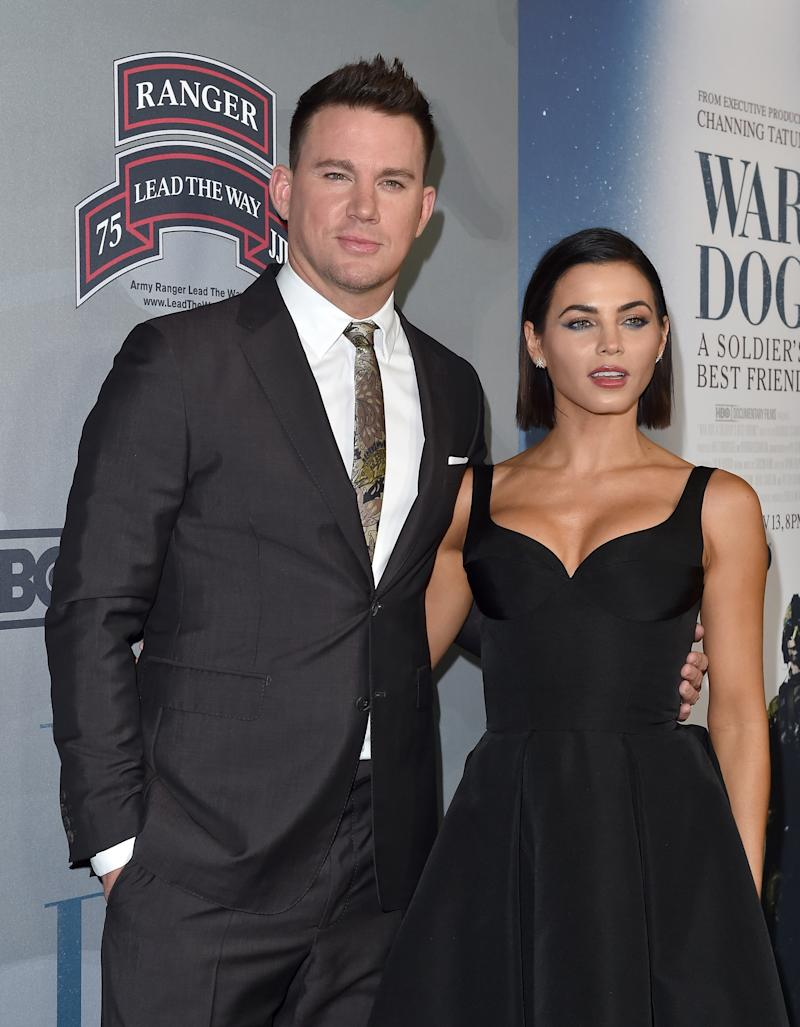 LOS ANGELES, CA - NOVEMBER 06: Actors Channing Tatum and Jenna Dewan Tatum arrive at the premiere of 'War Dog: A Soldier's Best Friend' at Directors Guild of America on November 6, 2017 in Los Angeles, California. (Photo by Axelle/Bauer-Griffin/FilmMagic)