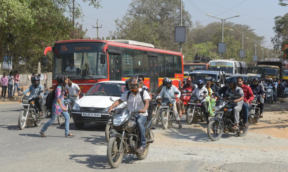 Commuters in Bengaluru spend <strong>71% extra travel time</strong> stuck in traffic.