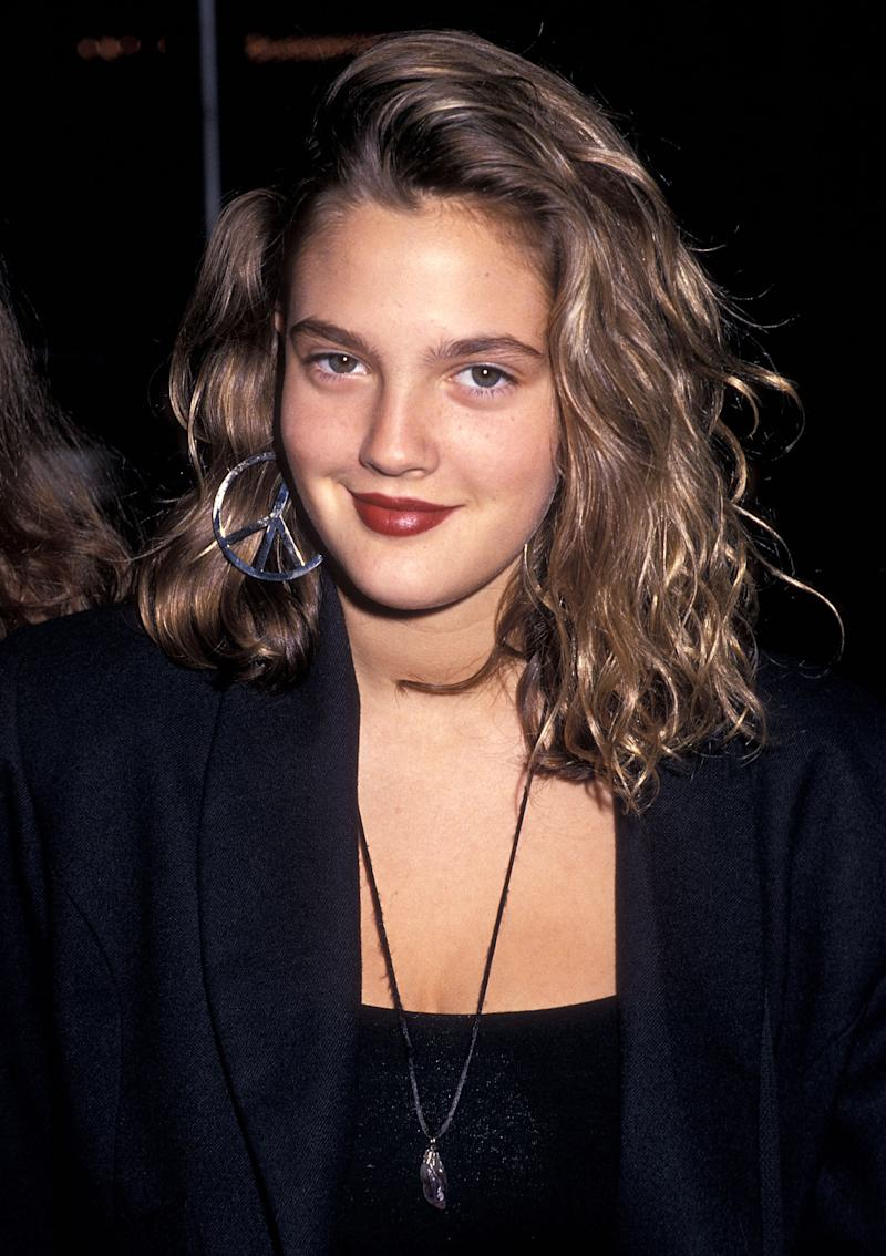 Drew Barrymore attends the Poety in Motion Special Performance to Benefit The Children's AIDS Foundation on June 25, 1989 at The Comedy Store in West Hollywood, California. (Photo by Ron Galella, Ltd./Ron Galella Collection via Getty Images)