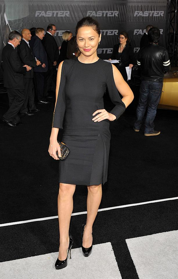"<a href=""http://movies.yahoo.com/movie/contributor/1808594162"">Moon Bloodgood</a> at the Los Angeles premiere of <a href=""http://movies.yahoo.com/movie/1810147419/info"">Faster</a> on November 22, 2010."