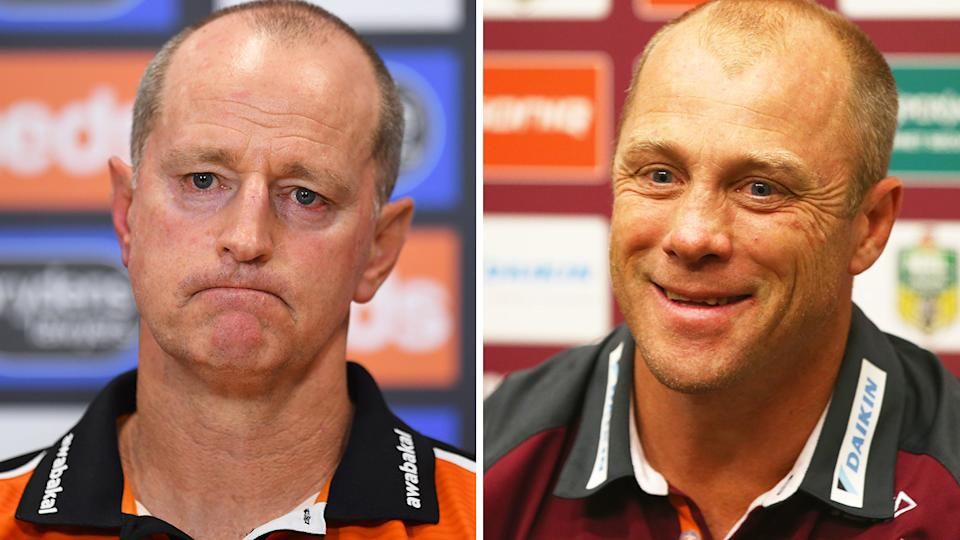 With Michael Maguire increasingly unlikely to stay on as Wests Tigers coach, former Manly coach Geoff Toovey has been thrown up as a potential replacement. Pictures: Getty Images